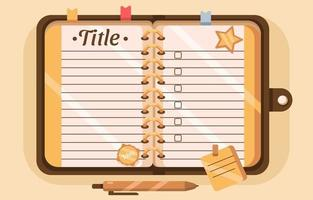 Notebook Template Background vector