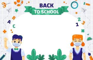 Back to School with protocol Background vector