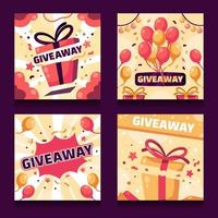 Giveaway Card Collections vector