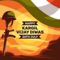 Happy Kargil Vijay Diwas vector