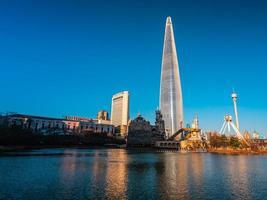 Lotte World Tower in Seoul City, South Korea photo