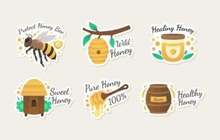 Honey Bee Protection Activism Sticker Set vector