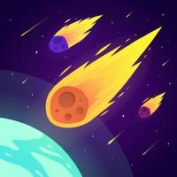 Meteor Colorful Background vector