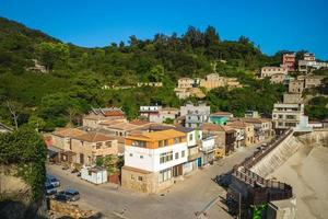 Aerial view of Jinsha Village in Nangan island, Matsu, Taiwan photo