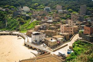 Aerial view of Niujiao village at Nangan island in Matsu, Taiwan photo