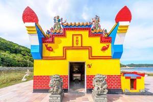 Pequeño templo de tien hou en matsu, taiwán foto