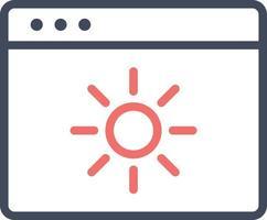 Brightness Vector Icon