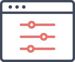 icono de configuración de la aplicación vector