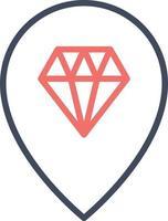 Jewellery Shop Location Icon vector