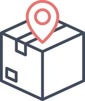 Package Location Icon vector