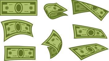 Abstract Banknotes Icons Set vector