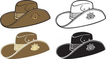 Australian Army Slouch Hat vector