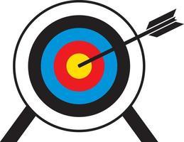 Archery Target With Arrow vector