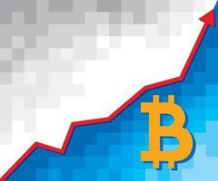 Bitcoin Growth Graph vector