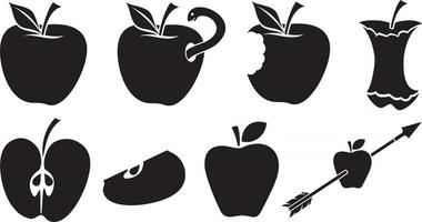 Apples Icons Set vector