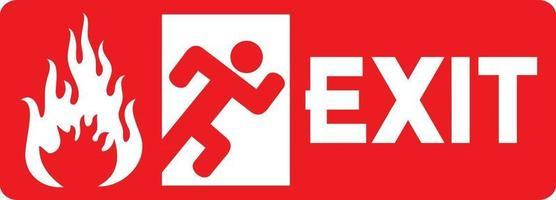 Fire Emergency Exit Door vector