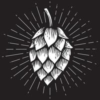Hop Icon - Hand Drawn Style vector