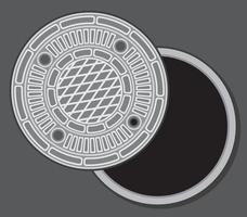 Manhole Street Cover vector