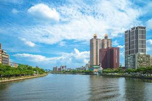 Riverbank of the Love river in Kaohsiung, Taiwan photo