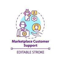 Marketplace customer support concept icon. Choice parameter abstract idea thin line illustration. Encouraging clients loyalty. Good service. Vector isolated outline color drawing. Editable stroke