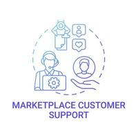 Marketplace customer support concept icon. Choice parameter abstract idea thin line illustration. Consumer experience optimization. Retention improvement. Vector isolated outline color drawing