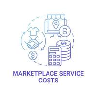 Marketplace service costs concept icon. Calculating consistent gross margin abstract idea thin line illustration. Building budget for e-commerce business. Vector isolated outline color drawing