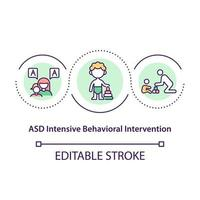 ASD intensive behavioral intervention concept icon. Special medical treatment of communication problems abstract idea thin line illustration. Vector isolated outline color drawing. Editable stroke