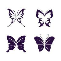 Vector Butterfly conceptual simple icon Logo Vector Animal Insect