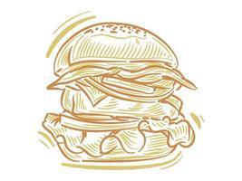 Set Flat Illustration of Burger for branding and logo element vector