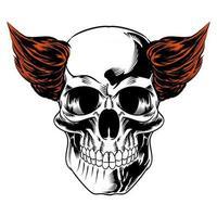 Isolated Skull Illustration for logo and branding element vector