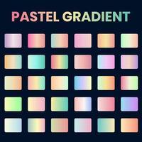 Pastel Gradient Swatches Set, Soft vibrant Gradients Collection vector