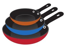Flat vector icon the colorful stack of frying pan for apps and websites