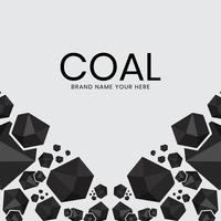 Anthracite coal fossil fuels for promotion banners vector