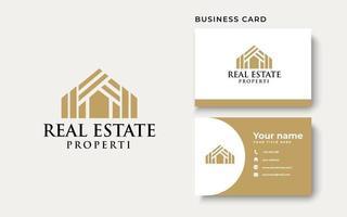 Casa de techo plantilla de logotipo de arquitectura inmobiliaria aislada en fondo blanco vector