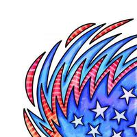 Stars and Stripes Watercolor Page Border vector