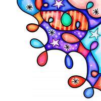 Patriotic Watercolor Loopy Page Border vector