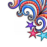 Patriotic American Watercolor Page Border vector