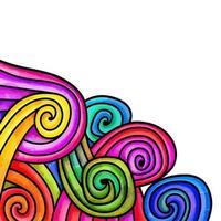 Watercolor Rainbow Swirl Page Border vector