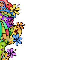 Watercolor Floral Leaf Page Border vector
