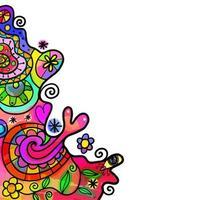 Retro Rainbow Watercolor Splash Border vector