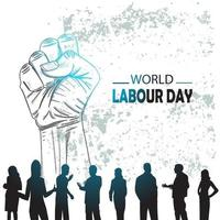 Hand drawn or sketch World Labour day vector