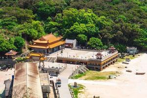 Templo de mazu tianhou en la isla nangan, matsu, taiwán foto