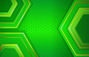 Green Geometric Shape Background vector