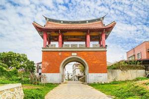 puerta oeste de la antigua ciudad de kinmen en taiwán foto