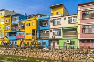 coloridas casas en kinmen, taiwán foto