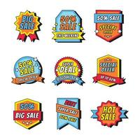 Bright Colored Sale Badges vector