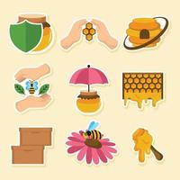 Saving The Dwindling Population of Honey Bees vector