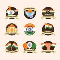 India Independence Day Stickers vector