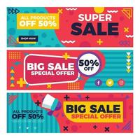 Big Sale Offer Banners vector