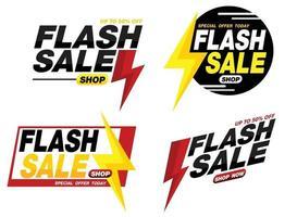 flash sale banner promotion tag design vector